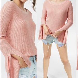 Express Pink Sweater W/ Flared Sleeves